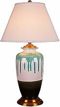 HTDZDX Lampe de table en céramique
