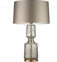 HTDZDX Lampe de table moderne avec socle en verre