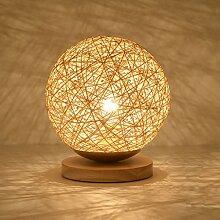 HTDZDX Lampe de table moderne Base en bois Bureau