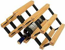 HTDZDX Porte-vin Autoportant En Bois Et En Métal