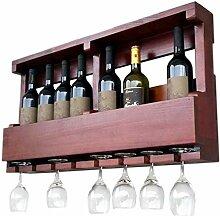 HTDZDX Porte-vin autoportant en bois mural