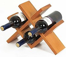 HTDZDX Porte-vin Autoportant En Bois Naturel