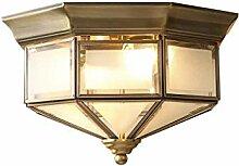 HTL Décoration American Copper Art Art Rond Lampe