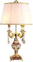 HTL Lampe de Bureau En Cristal de Style Européen