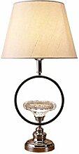 HTL Lampe de Table En Verre Élégante, Base En
