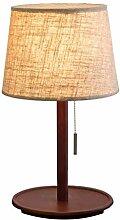 HTL Lampe de Table Moderne Porte-Lampe En Bois