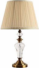 HTL Lampe de Table Traditionnelle Crystal Laiton