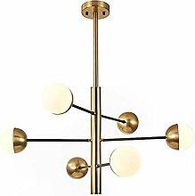 HTL Moderne Gold Spoutnik Chandelier Branches 6