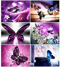 HUACAN – peinture de diamant carré de papillon,
