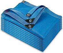 HUADA Abat-jour en tissu - Bleu 10 points - Pour