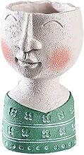 HuaHuoYou Face Design Pot de Fleurs en r¨¦sine