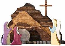 Huante Scène de résurrection de Pâques,