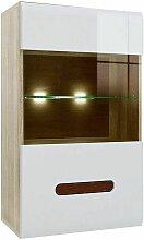 Hucoco - AZALIA - Vitrine suspendue style moderne