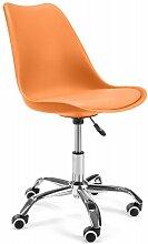 Hucoco - LUMIE   Chaise de bureau pivotant moderne
