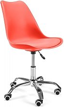Hucoco - LUMIE - Chaise de bureau pivotant moderne