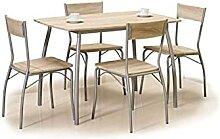 Hucoco MEDUS   Ensemble Table + 4 chaises   Table