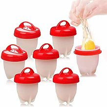 HUHUDAY Cuit Oeufs, 7PCS Cuit Pocheuse Silicone