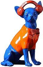 huitailang Résine Sculpture Chihuahua Figurine