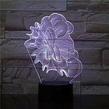 HUUDNHYK 3D Vision Night Light Art abstrait 3D