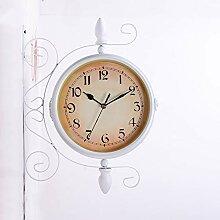 Hwcpadkj Horloge de Gare Double Face - Station de