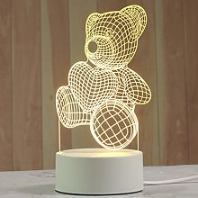 Hwjmy Veilleuse créative 3D en acrylique pour