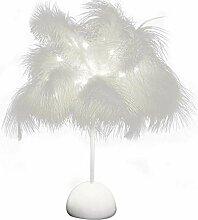 Hwjmy Veilleuse LED en forme de plumes pour la