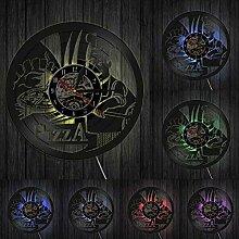 hxjie Horloge Murale décorative en Vinyle pour