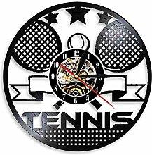 hxjie Horloge Murale en Vinyle de Tennis de Table,