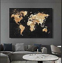 HXLZGFV Art Mural Grande Taille Carte du Monde