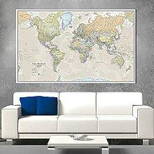 HXLZGFV Carte du Monde Classique Grande Carte du