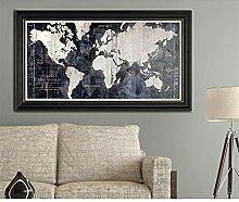HXLZGFV Carte du Monde décoratif Mur Art Photo