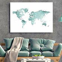 HXLZGFV Carte du Monde Suspendus Peinture Menthe