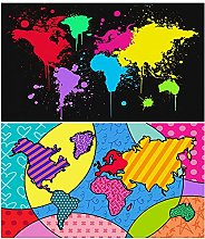 HXLZGFV Graffiti Art Affiches Abstraite Carte du