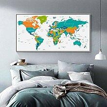 HXLZGFV La Carte du Monde Global Country Affiches