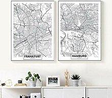 HXLZGFV Noir et Blanc Allemagne Francfort Hambourg