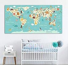 HXLZGFV Pépinière Mur Art Toile Peinture Enfant