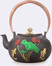 HYY-YY Ensemble à thé en fonte 1200 ml avec