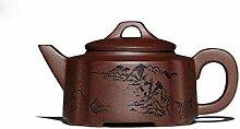 HYY-YY Théière vintage Biluochun en argile