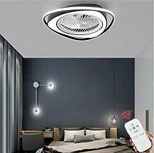 HZJ Ventilateur De Plafond Plafonnier LED avec