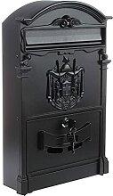 HZPXSB Boîte à Lettres en Aluminium Noir