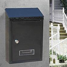 HZPXSB Boîte aux Lettres en métal 22x6.5x30cm,