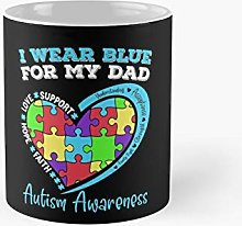 I Wear Blue For My Dad Autism Awareness Classic