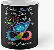 I Wear Blue For My Dad Autism Awareness Gifts