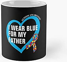 I Wear Blue For My Father Classic Mug Best Gift