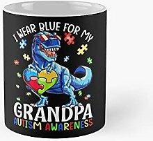 I Wear Blue For My Grandpa Autism Awareness