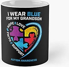 I Wear Blue For My Grandson Classic Mug Best Gift