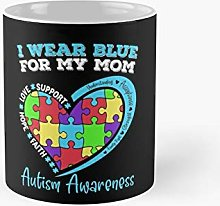 I Wear Blue For My Mom Autism Awareness Classic