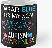 I Wear Blue For My Son Autism Awareness Classic