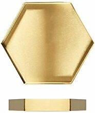 I3C Plateau décoratif pour bijoux Doré Plateau
