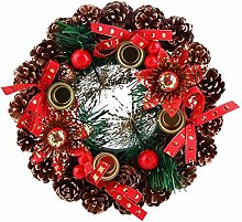 IADZ Couronne de Noël, guirlande de Noël durable